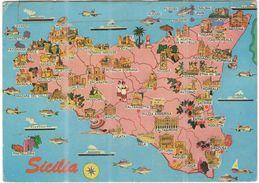 ITALIA - ITALY - ITALIE - 1981 - Serie Castelli 150 Castello Di Miramare-Trieste - Sicilia, Mappa, Map - Viaggiata Da Pi - Otras Ciudades