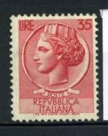 Italia Repubblica 1953 Sass. 716 Nuovo ** 40% Italia Turrita - 6. 1946-.. Republic