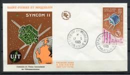 St. Pierre E Miquelon 1965 Primo Giorno 100% Rocket Syncom II - Storia Postale