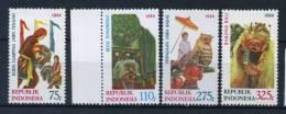 Indonesia 1984 Mi. 1146-1149 Nuovo ** 100% Cultura Arte - Indonesia