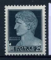 Italia Regno 1929 Sass. 260 Nuovo ** 100% Imperiale 25 L - 1900-44 Vittorio Emanuele III