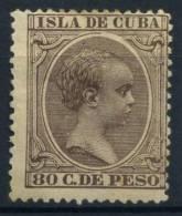 Caraibi 1896 Mi. 105 Nuovo * 60% Re Alfonso XIII - Cuba (1874-1898)