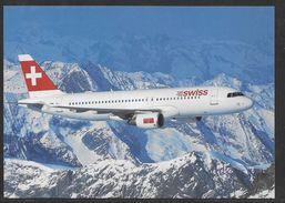 Airbus A320 - Swiss Air Livery - Unused Colour Postcard - 1946-....: Modern Era