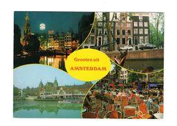 Pays Bas - Amsterdam : Groeten Uit D'Amsterdam, Multi-vues, Cpsm Animée Et écrite En 1985 - Amsterdam