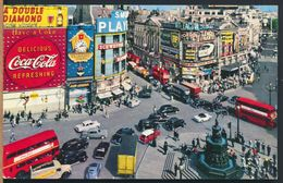 °°° 8953 - UK - LONDON - PICCADILLY CIRCUS - 1964 With Stamps °°° - Piccadilly Circus