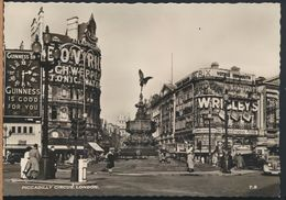 °°° 8955 - UK - LONDON - PICCADILLY CIRCUS - 1959 With Stamps °°° - Piccadilly Circus