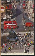 °°° 8956 - UK - LONDON - PICCADILLY CIRCUS - 1969 With Stamps °°° - Piccadilly Circus