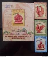 Vietnam Viet Nam MNH SPECIMEN Stamps & Souvenir Sheet 2017 : Hanoi Old Citadel / Bird / Art - Vietnam