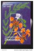 DOMINICA  2632  MINT NEVER HINGED SOUVENIR SHEET OF FLOWERS - ORCHIDS - Végétaux