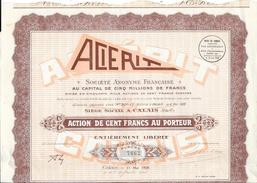 Action De Cent Franc Au Porteur - Acierit, Société Anonyme Française - Actions & Titres