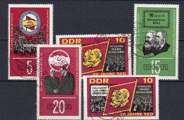 DDR   1173 - 1177  Gestempelt - Usados