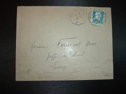 LETTRE TP PASTEUR 1F25 Surchargé 50c OBL? CONVOYEUR 26-10-36 REIMS A LAON (51 MARNE 02 AISNE) + OBL.MEC. LAON GARE - Postmark Collection (Covers)