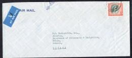 1958  Air Letter To Canada  Qn Elizabeth 2/6  SG 12 - Rhodesien & Nyasaland (1954-1963)