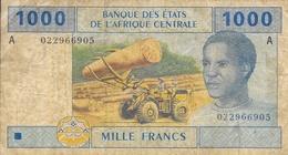 Billet - Banque Des Etats De L'Afrique Centrale - 1000 Mille Francs - Série A - 2002 - Banconote