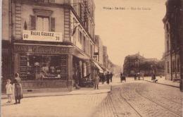J10- 93) NOISY LE SEC  - RUE  DU GOULET   - (ANIMEE - COMMERCE VINS LIQUEURS CAFÉ - BIERE GRUBER  - 2 SCANS- - Noisy Le Sec