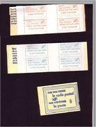!!!.FRANCE 4 Carnets Complets Vignettes Code Postal 31000, 31200, 31500, 31300 - Documents Of Postal Services