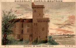 CHROMOS CHOCOLAT GUERIN-BOUTRON CHAREAU DE SAINT-PRIVAT GARD - Guerin Boutron