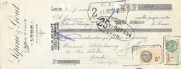 Lettre De Change 1933 - Lépine & Gout, Lyon (Quai St Clair) - Bills Of Exchange