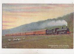 Johannesburg Cape Express Central South African Railways Tuck Postcard 636b - Chemins De Fer