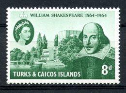 Turks And Caicos Islands, 1964, William Shakespeare, MNH, Michel 183 - Turks & Caicos (I. Turques Et Caïques)
