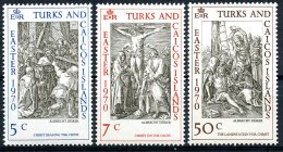 Turks And Caicos Islands, 1970, Easter, Durer, MNH, Michel 244-246 - Turks E Caicos