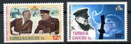 Turks And Caicos Islands, 1974, Churchill, MNH, Michel 339-340 - Turks & Caicos (I. Turques Et Caïques)