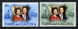 Turks And Caicos Islands, 1972, Silver Wedding, MNH, Michel 299-300 - Turks & Caicos (I. Turques Et Caïques)