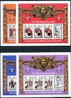Turks And Caicos Islands, 1978, Coronation Jubilee Queen Elizabeth II, MNH Sheets, Michel 385-388C - Turks & Caicos (I. Turques Et Caïques)