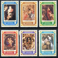 Turks And Caicos Islands, 1977, Christmas, Rubens Paintings, MNH, Michel 374-379 - Turks & Caicos (I. Turques Et Caïques)