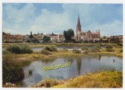 {77995} 33 Gironde Langon , Perspective Sur La Garonne Et La Ville ; Pont , église - Langon