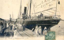 """Tunisie - Tunis - Bateau """" Le Havre"""" En Partance - Túnez"""