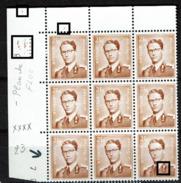 1028P  Bloc 9  Cd 16II70  **  V 1  4étoiles Et Taches Brunes - Abarten Und Kuriositäten