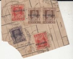 Pakistan  KG VI  Campbellpur  5 X Service Local  Print  Used  On Piece   #  01434   Sd  Inde  Indien - Pakistan