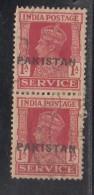 Pakistan  KG VI   1A X2  Service Local  Print  Used     #  01441    Sd  Inde  Indien - Pakistan