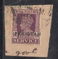 Pakistan  KG VI   1/2A  Service Local  Print  Used     #  01452    Sd  Inde  Indien - Pakistan