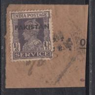 Pakistan  KG VI   1.5 A  Service Local  Print  Used     #  01451    Sd  Inde  Indien - Pakistan