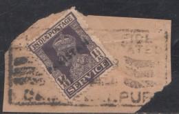 Pakistan  KG VI   1.5 A  Service Local  Print  Used     #  01457    Sd  Inde  Indien - Pakistan