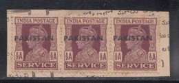 Pakistan  KG VI   1/2A X 3  Service Local  Print  Used     #  01453    Sd  Inde  Indien - Pakistan