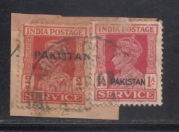 Pakistan  KG VI  2 X  Service Local  Print  Used     #  01454    Sd  Inde  Indien - Pakistan