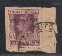 Pakistan  KG VI  1.5A  Service Local  Print  Used     #  01456    Sd  Inde  Indien - Pakistan