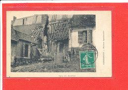 80 GUERBIGNY Cpa Maison Bombardée            Edit Gigan - France