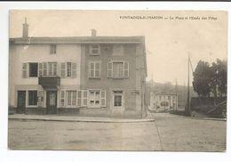 FONTAINES-St-MARTIN (69) La Place Et L'Ecole Des Filles - Autres Communes
