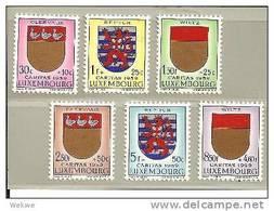 Lux Mi.nr.612-17/ Kantonal-Wappen 1959 ** MNH - Luxemburg