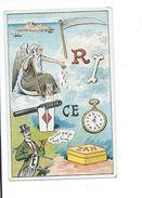 Chromo Devinette Cherchez ? Rébus ZAN Dieu Pub Au Dos: Réglisse ZAN Uzès Gard P. Aubrespy TB - Trade Cards