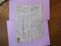 SARLAT EN PERIGORD DELPEYRAT & BONNEFON CONSERVES DE LUXE FACTURE ET TRAITE DU 9/8/1928 - 1900 – 1949
