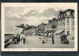 CPA - MERS - La Digue Et Les Villas, Animé - Automobile - Mers Les Bains