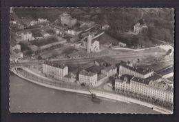 CPSM 69 - VAISE - LYON VAISE Vue Aérienne Sur La Saône , Nouvelle Eglise De Serin + Entrée Tunnel TB PLAN Détails 1954 - France