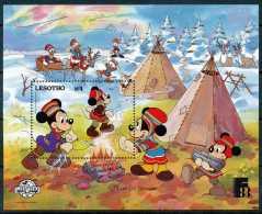 LESOTHO - Walt Disney - Mickey, Minnie, Donald, Daisy, Riri, Fifi Et Loulou Travail Pour Le Campement, B.D - Disney