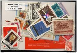 URSS SU 1969, ANNEE COMPLETE, COMPLETE YEAR SET, STAMPS + BLOCKS, TIMBRES ET BLOCS, OBLITERES / USED CTO - Volledige Jaargang