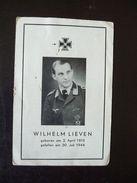 Sterbezettel Deutscher Soldat Oberfeldwebel Der Luftwaffe Fliegertod 1944 Geboren In Sindsteden Rommerskirchen - Other